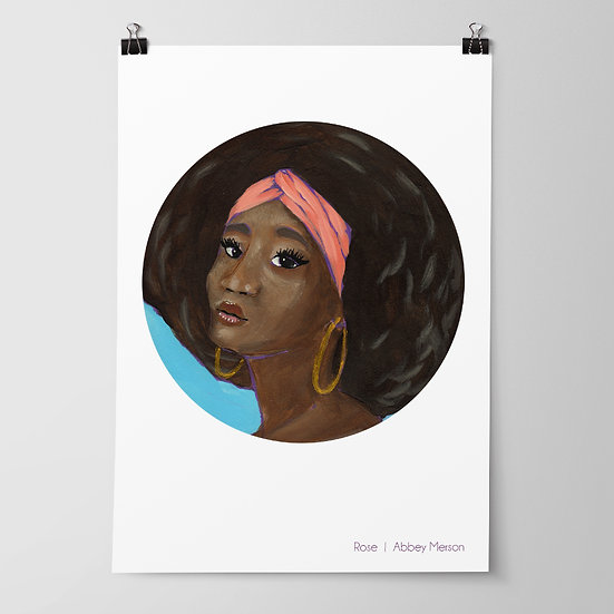 'Rose' Print by Abbey Merson