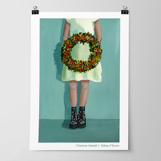 'Christmas Wreath' Print by Abbey Merson