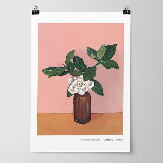 'Vintage Bloom' Print by Abbey Merson