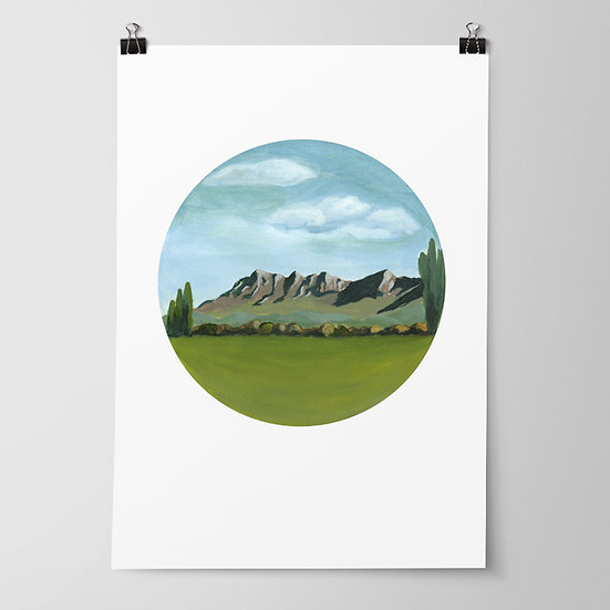 'TeMata Peak' Limited Edition Print by Abbey Merson