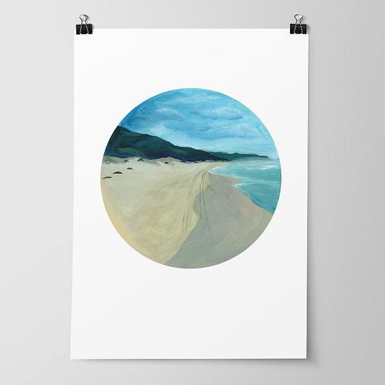 'Ocean Beach' Limited Edition Print by Abbey Merson
