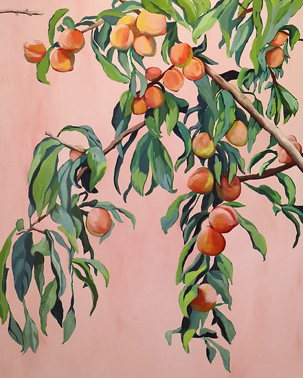 'Foliage II / Peach Tree' Original Painting by Abbey Merson