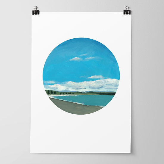 'Westshore Beach' Limited Edition Print by Abbey Merson