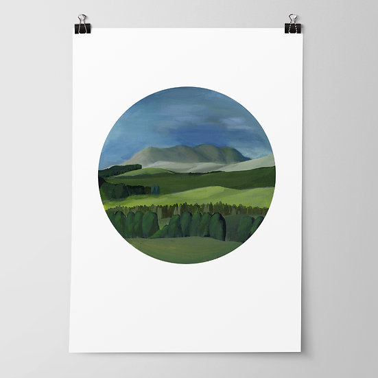 'Kahuranaki' Limited Edition Print by Abbey Merson