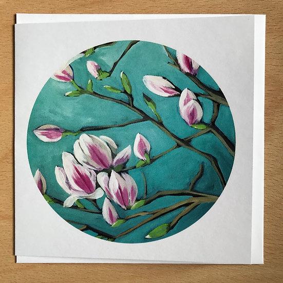 Magnolia Art Card