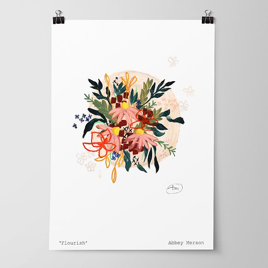 'Flourish' Print by Abbey Merson
