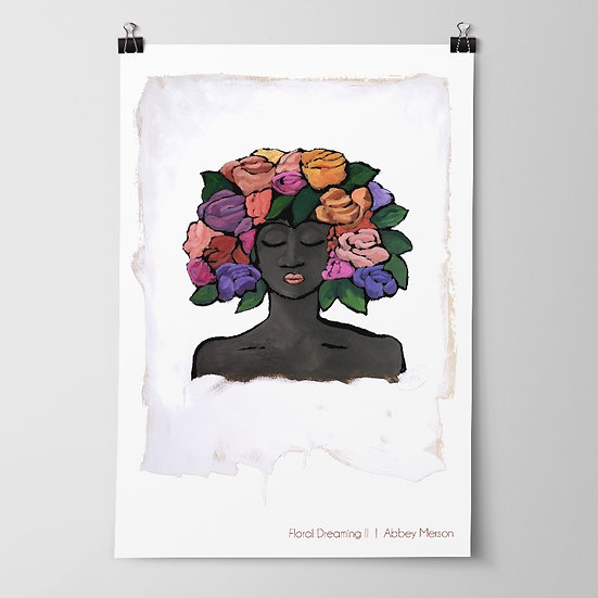 'Floral Dreaming II' Print by Abbey Merson