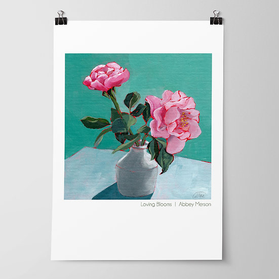 'Loving Blooms' Print by Abbey Merson