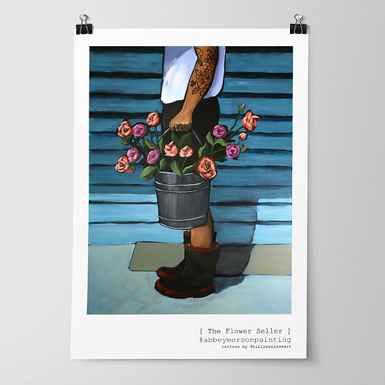 'The Flower Seller' Art Print by Abbey Merson