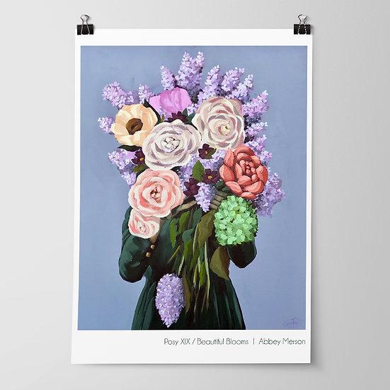'Posy XIX / Beautiful Blooms' Print by Abbey Merson