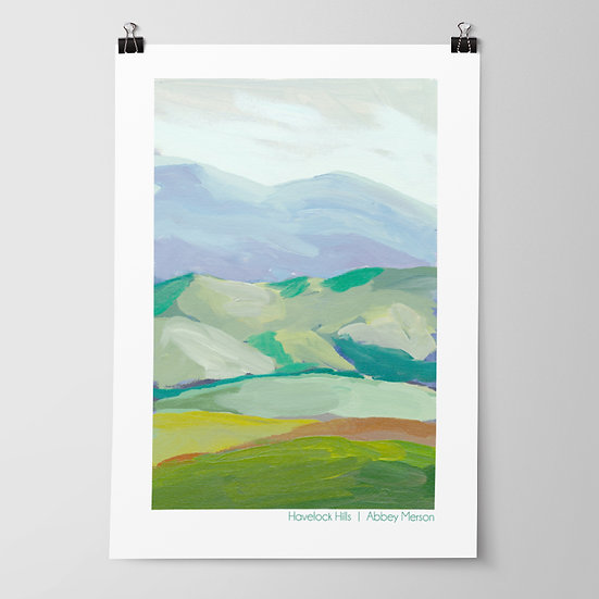 'Havelock Hills' Print by Abbey Merson