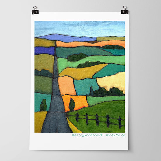 'The Long Road Ahead' Print by Abbey Merson