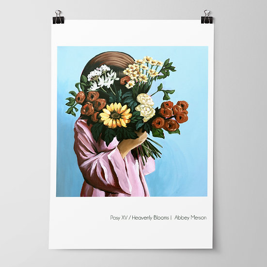 'Posy XV / Heavenly Blooms' Print by Abbey Merson