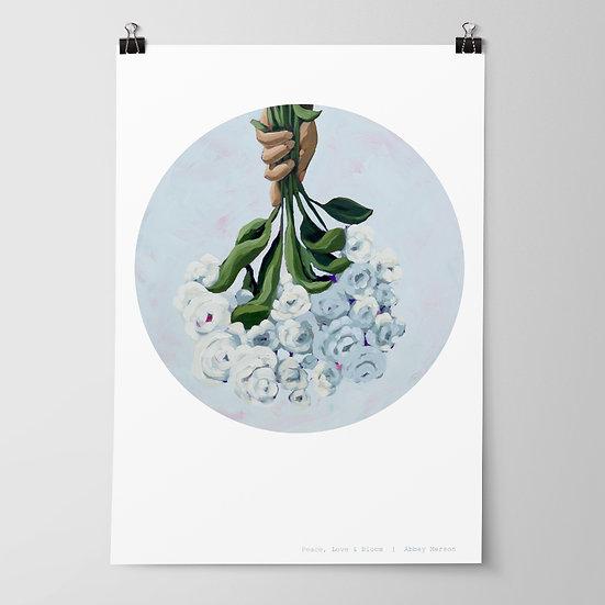'Peace, Love & Bloom' Print