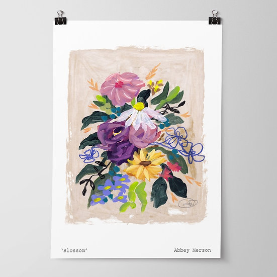 'Blossom' Print by Abbey Merson