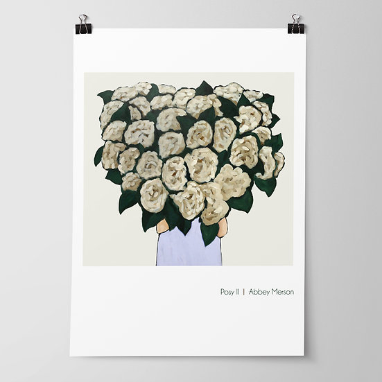 'Posy II / Hydrangea' Print by Abbey Merson