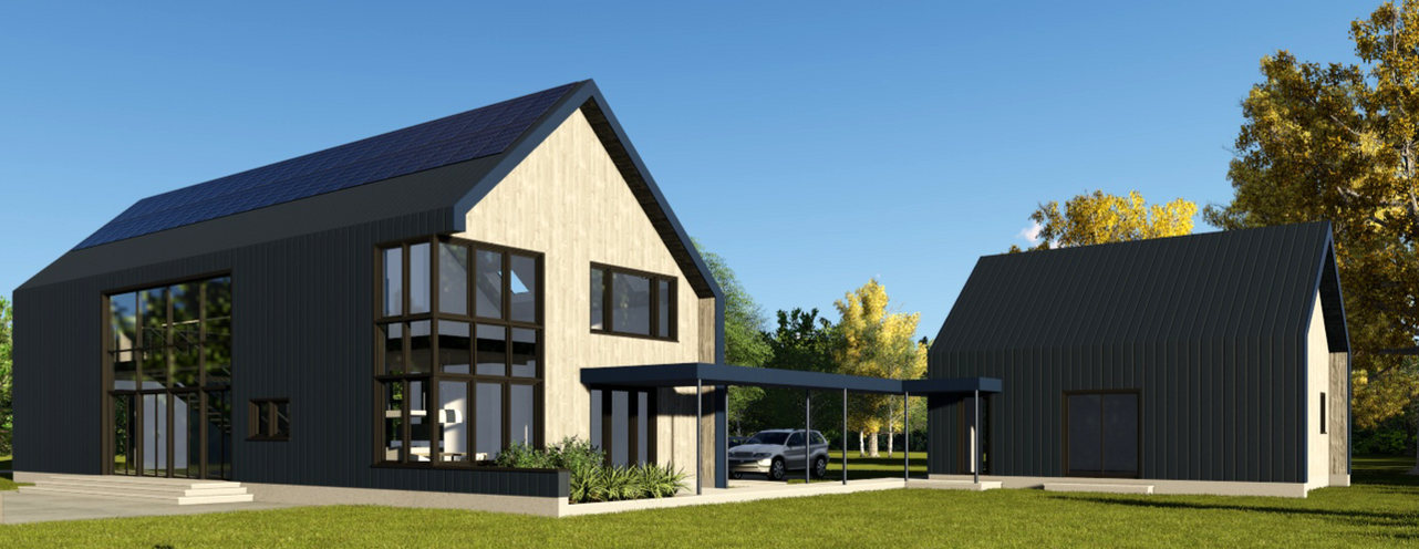Near Net-Zero Home Rendering