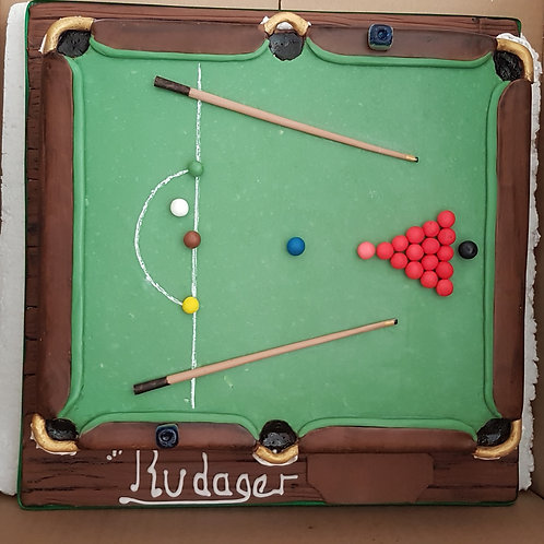 Snooker table cake