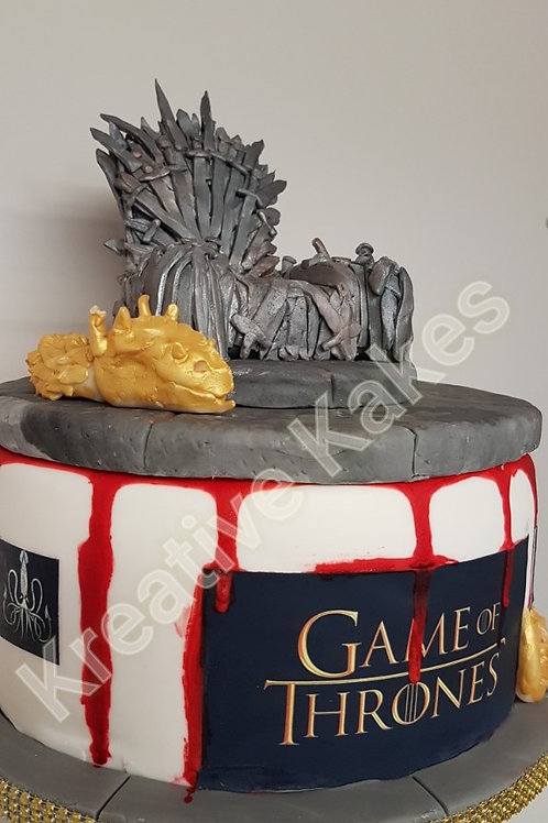myth and magic themed cake