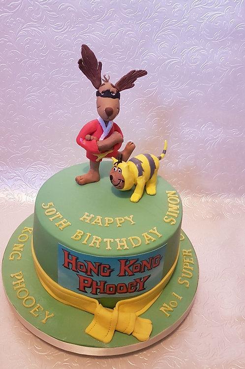 Super Hero Dog cake