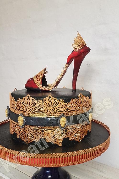 Gothic Style Shoe Cake