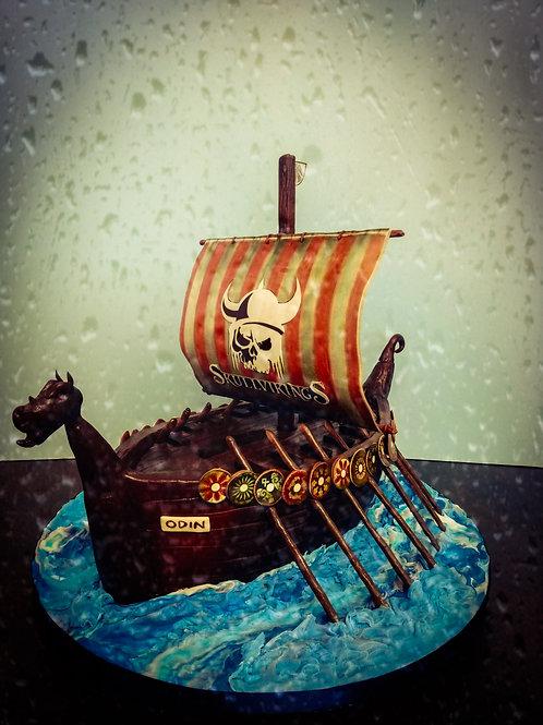 Viking Ship Cake