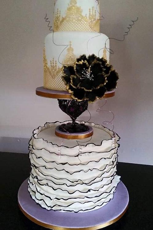 Gothic style wedding cake