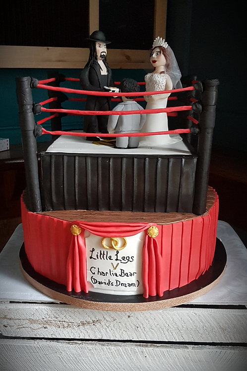 Wrestling/Boxing ring themed cake
