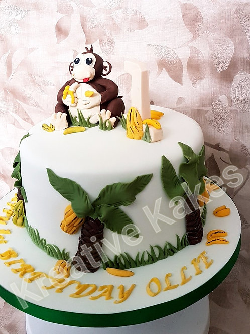 Cheeky monkey  children's birthday cake