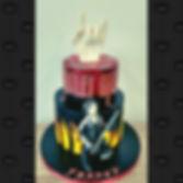 Motley Crue themed cake