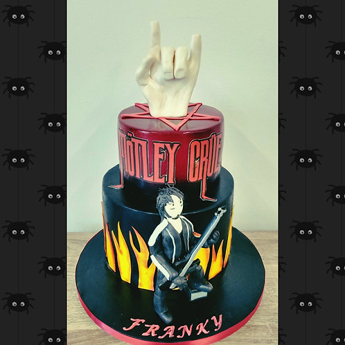 Rock band themed cake