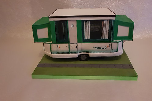 Trailer Tent cake