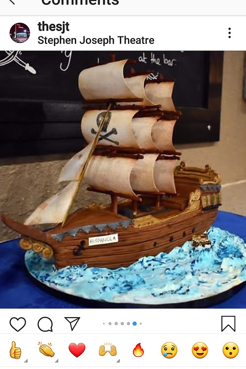 Galleon cake