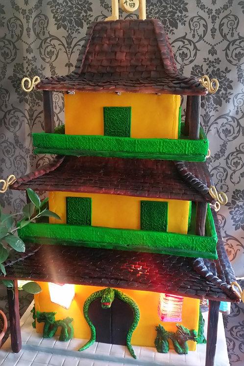 Pagoda wedding cake