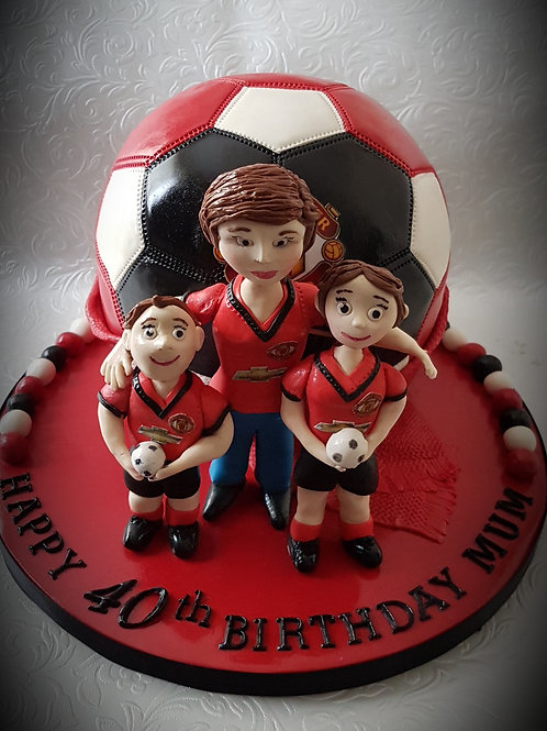 Footie cake and figures