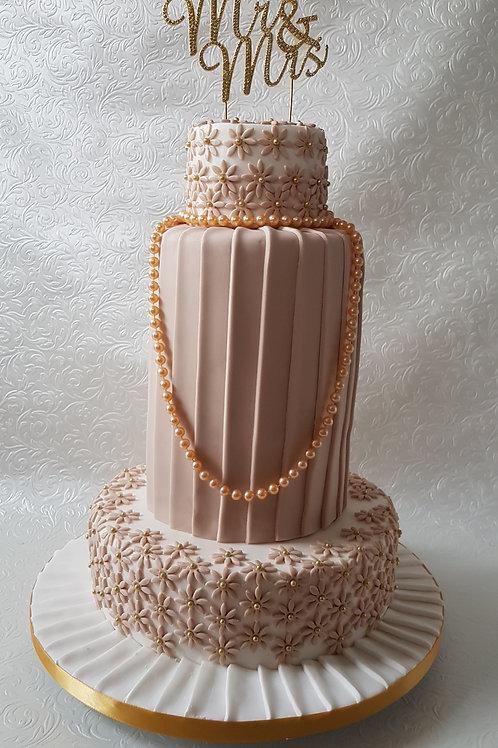 Coffee and Cream Vintage Wedding cake
