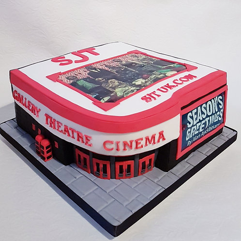 Corporate cake for stage production