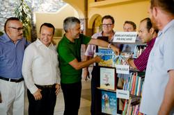 Inauguración de biblioteca francesa