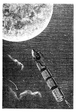 Le train de projectiles pour la Lune