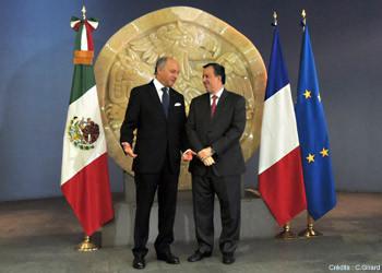 Encuentro de Laurent Fabius con su homólogo José Antonio Meade