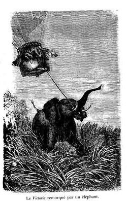 Le Victoria remorqué par un éléphant