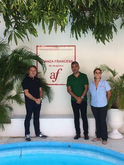 Jean-Christophe Napias, Sergio Coronado y Mathilde Alberola