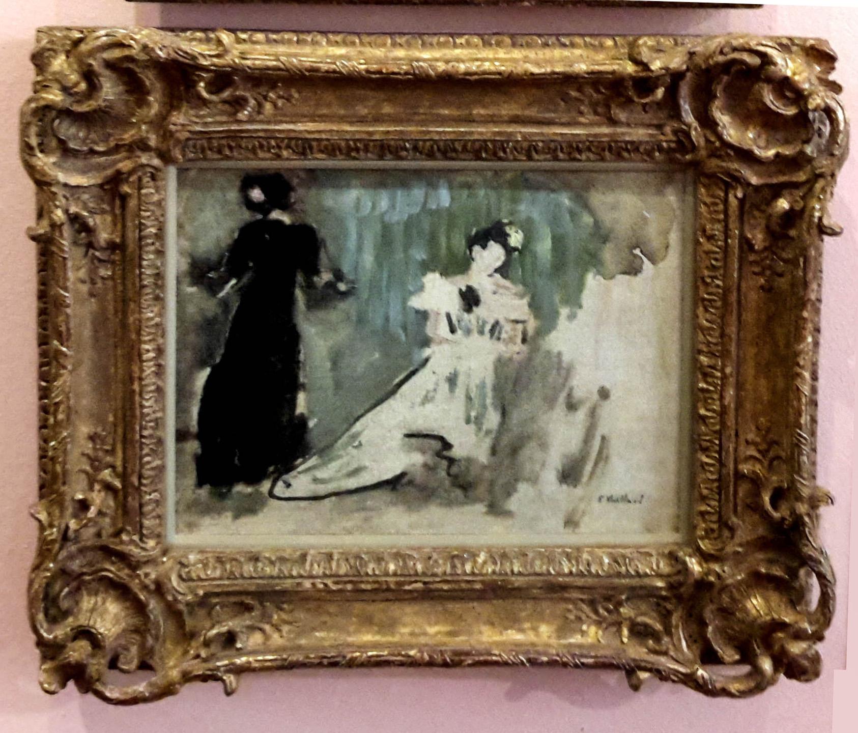 Dos siluetas femeninas (boceto)