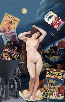 """Wonder Stories"" Oil on Plexi"