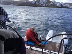 Skipper taucht nach Klappe