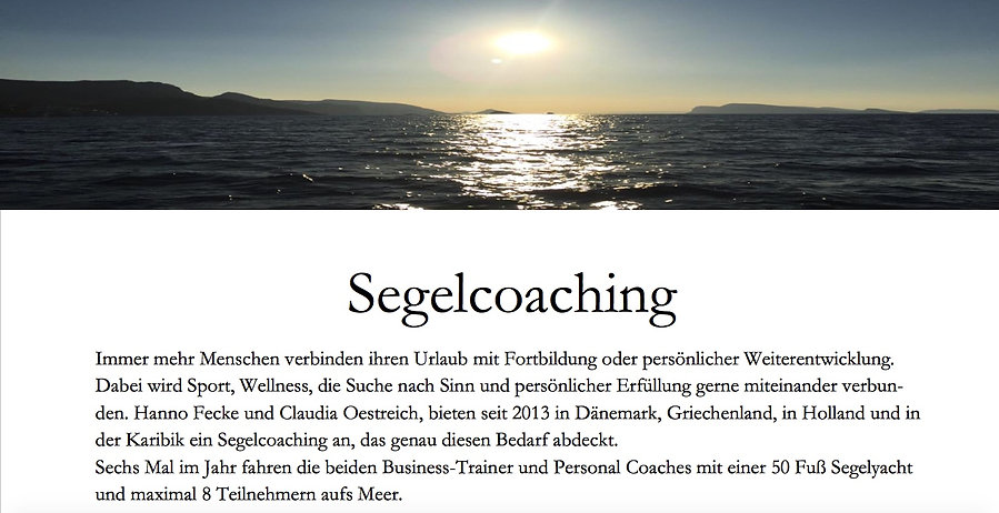 Segelcoaching das Interview Impression und Inspiration