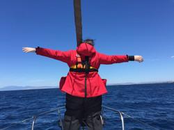 Stefanie im Titanic Feeling