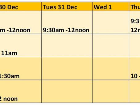 Week 2 Timetable for Festive FoodShare