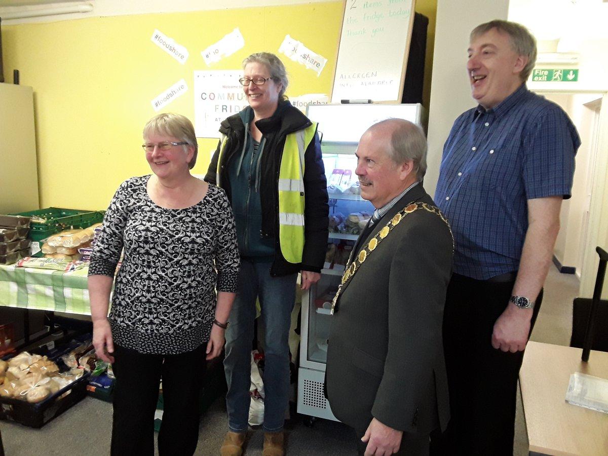 The Fridge Team with the Mayor