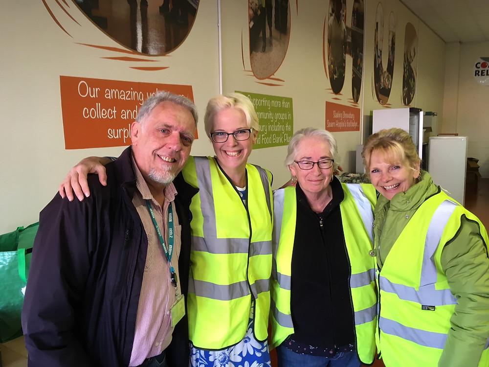 Ian from BBC Radio Shropshire with Vicky, Susan and Liz